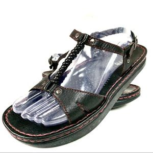 Kalso Earth Sassy 2 Black Leather USA Sandal -8B